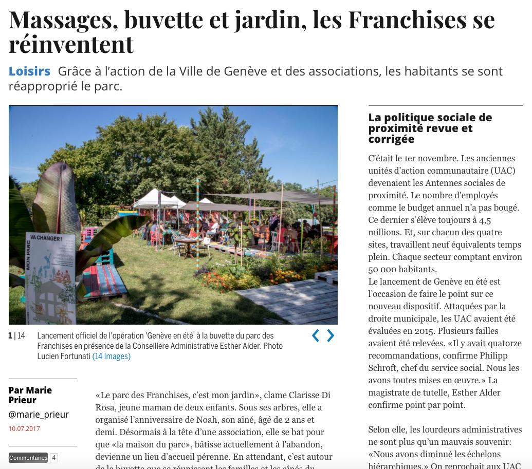 Massages, buvette et jardin, les Franchises se réinventent