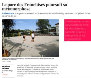 Le beach-volley s'implante au parc des Franchises